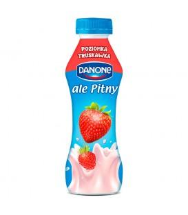Danone ale Pitny Truskawka poziomka Napój jogurtowy 290 g