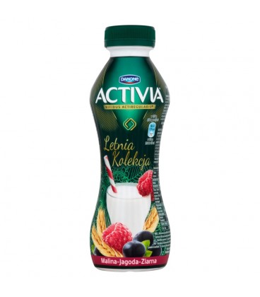 Danone Activia Letnia Kolekcja Malina jagoda ziarna Jogurt 280 g