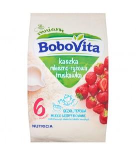BOBOVITA kaszka mleczno-ryżowa o smaku truskawkowym po 6 miesiącu 230 g