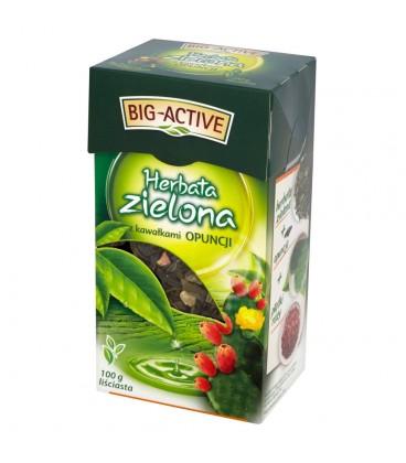 Big-Active Herbata zielona z kawałkami opuncji 100 g