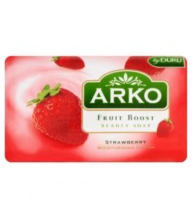 Arko Fruit Boost Truskawka Mydło kosmetyczne z kremem nawilżającym 90 g