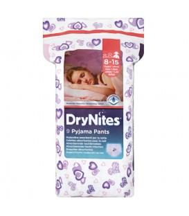 DryNites Majteczki dla dzieci moczących się w nocy dziewczynki 8-15 lat 9 sztuk