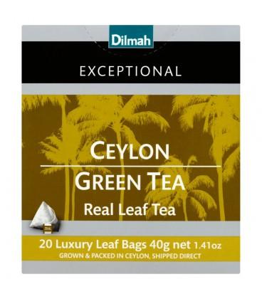 Dilmah Exceptional Zielona cejlońska herbata 40 g (20 torebek)