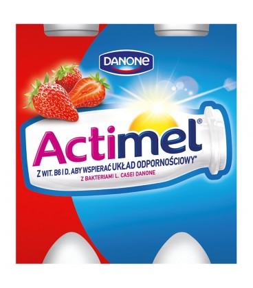 Danone Actimel Truskawka Mleko Fermentowane 400 g (4 sztuki)