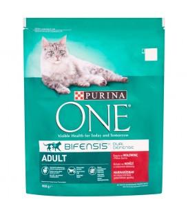 PURINA ONE Adult Pełnoporcjowa karma dla dorosłych kotów bogata w wołowinę i pełne ziarna 800 g