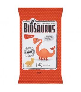 BioSaurus Ekologiczne pieczone chrupki kukurydziane o smaku ketchupowym 50 g