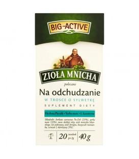 Big-Active Zioła Mnicha Na odchudzanie Suplement diety Herbatka ziołowa 40 g (20 torebek)