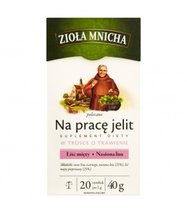 Big-Active Zioła Mnicha Na pracę jelit Suplement diety Herbatka ziołowa 40 g (20 torebek)