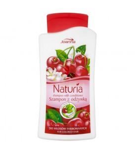 Joanna Naturia Szampon z odżywką z wiśnią do włosów farbowanych 500 ml