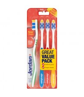 Jordan Total Clean Szczoteczka do zębów miękka 4 sztuki