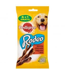 Pedigree Rodeo Smakowite sprężynki do żucia z wołowiną Karma uzupełniająca 122 g (7 sztuk)
