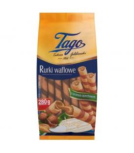 Tago Rurki waflowe z kremem orzechowym 280 g