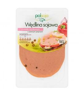 Polsoja Wędlina sojowa o smaku szynkowym z zielonym pieprzem 100 g