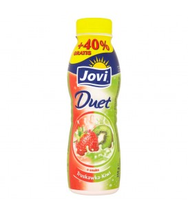 Jovi Duet Napój jogurtowy o smaku truskawka-kiwi 350 g