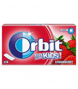 Orbit For Kids Strawberry Guma do żucia bez cukru 27 g (14 pasków)