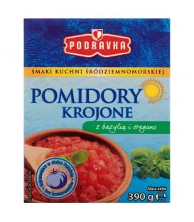 Podravka Pomidory krojone z bazylią i oregano 390 g
