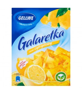 Gellwe Galaretka smak cytrynowy 75 g