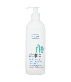 Ziaja Ziajka Żel do mycia ciała i włosów dla dzieci hypoalergiczny powyżej 6 miesiąca życia 400 ml