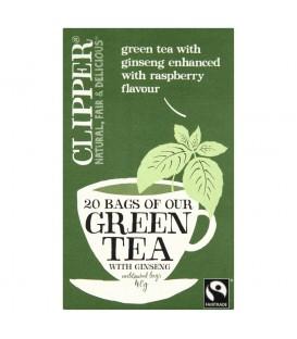 Clipper Zielona herbata z żeń-szeniem 40 g (20 torebek)