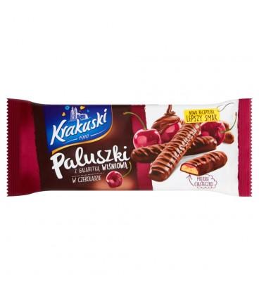Krakuski Paluszki z galaretką wiśniową w czekoladzie 144 g