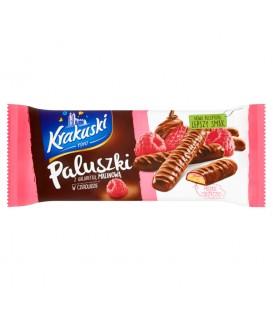Krakuski Paluszki z galaretką malinową w czekoladzie 144 g