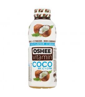 Oshee Vitamin Coco Napój niegazowany wieloowocowy o smaku kokosa 555 ml