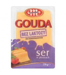 Mlekovita Gouda Ser bez laktozy w plastrach 150 g