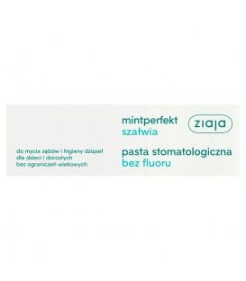 Ziaja Mintperfekt Szałwia Pasta stomatologiczna bez fluoru 75 ml