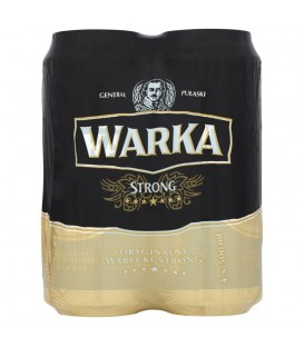 Warka Strong Piwo jasne 4 x 500 ml