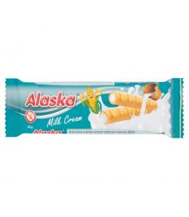 Alaska Rurki kukurydziane nadziewane mlecznym kremem 18 g