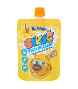 Bakoma Bakuś Deser mleczny o smaku waniliowym 80 g