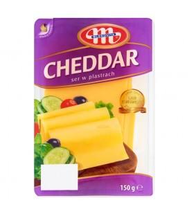 Mlekovita Cheddar Ser w plastrach 150 g