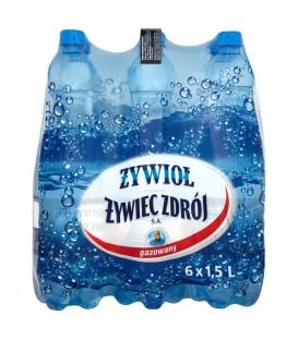 Żywioł od Żywiec Zdrój SA Woda źródlana gazowana 6 x 1,5 l