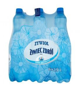 Żywioł od Żywiec Zdrój SA Woda źródlana lekko gazowana 6 x 1,5 l