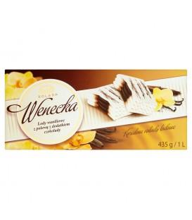 Koral Rolada Wenecka Lody waniliowe z polewą z dodatkiem czekolady 1 l