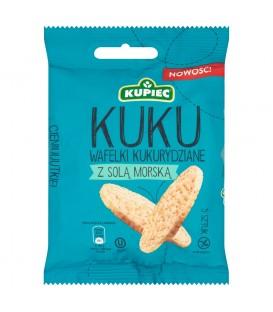 Kupiec Kuku Wafelki kukurydziane z solą morską 18 g (5 sztuk)