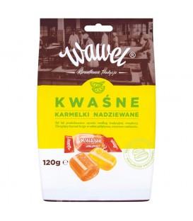 Wawel Kwaśne Karmelki nadziewane 120 g