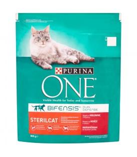 PURINA ONE Sterilcat Pełnoporcjowa karma dla dorosłych kotów bogata w wołowinę i pszenicę 800 g