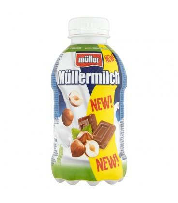 Müller Müllermilch Napój mleczny o smaku czekoladowo-orzechowym 377 ml