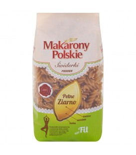 Makarony Polskie Świderki razowe Makaron 400 g