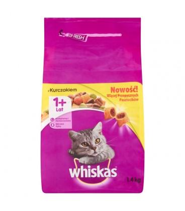 Whiskas z kurczakiem Karma pełnoporcjowa 1+ lat 1,4 kg