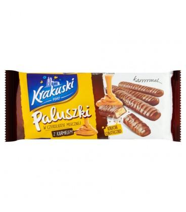 Krakuski Paluszki w czekoladzie mlecznej z karmelem 130 g