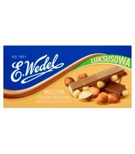 E. Wedel Luksusowa Czekolada mleczna z całymi orzechami 100 g