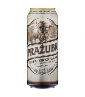 Prażubr Piwo jasne niepasteryzowane 500 ml