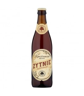 Konstancin Żytnie niefiltrowane Piwo jasne 500 ml