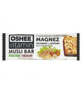 Oshee Vitamin Rodzynki Orzechy Baton zbożowy 40 g