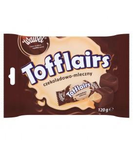 Wawel Tofflairs czekoladowo-mleczny Pomadki niekrystaliczne czekoladowe 120 g