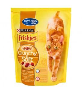 Friskies Crunchy & Soft z kurczakiem indykiem i dodatkiem warzyw Pełnoporcjowa karma dla kotów 800 g