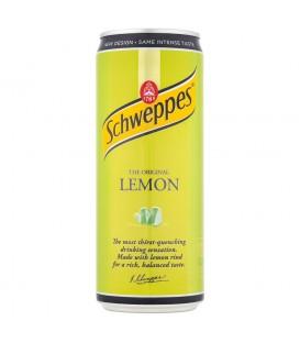 Schweppes Lemon Napój gazowany o smaku cytrusowym 330 ml
