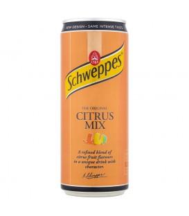 Schweppes Citrus Mix Napój gazowany o smaku cytrusowym 330 ml